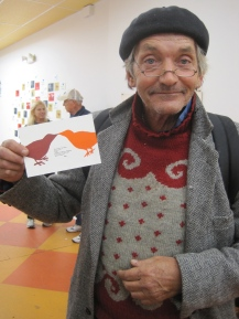 Tim with one of our monthly cards.