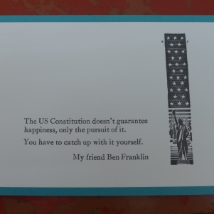 The finished Ben Franklin postcard!