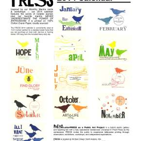 Some letterpress printed calendars stillavailable!