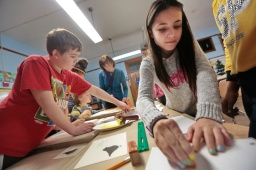 New Bedford Public Schools Artist Residency, photo credit Peter Pereira