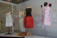 Left to right: Dresses by Diane Sullivan, Adrienne Gale, Melanie Mowinski, Diane Sullivan