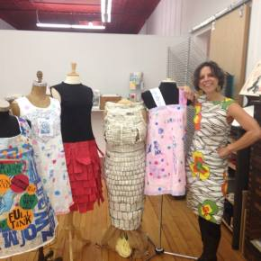 Getting closer to Paper Dresses opening on September25th