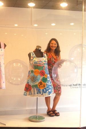 Karen with her Dharma Dress!