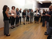 Melanie Mowinski thanks visitors, interns, and supporters of PRESS