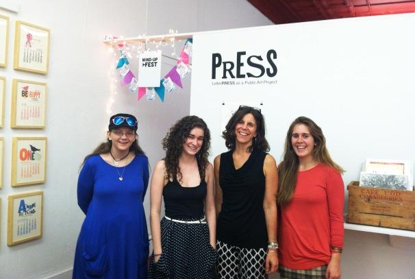 September's reception team: Angela, Nicole, Melanie, and Michaela!