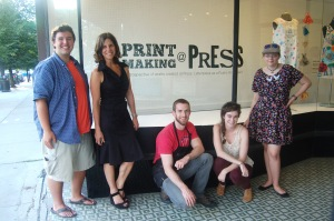 PRESS's August opening team!